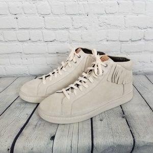UGG Mens Brecken Fringe Hightop Sneaker NWOT Sz 14